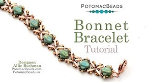 How to Bead Jewelry / Videos Sorted by Beads / All Other Bead Videos / Bonnet Bracelet Tutorial