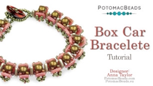 How to Bead / Videos Sorted by Beads / RounDuo® & RounDuo® Mini Bead Videos / Box Car Bracelet Tutorial