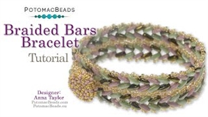 How to Bead Jewelry / Videos Sorted by Beads / CzechMates Bead Videos / Braided Bars Bracelet Tutorial
