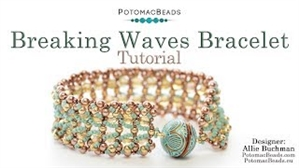 How to Bead Jewelry / Videos Sorted by Beads / Potomac Crystal Videos / Breaking Waves Bracelet Tutorial