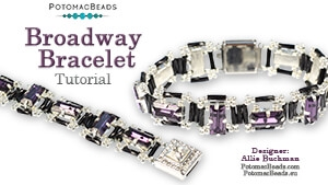 How to Bead Jewelry / Videos Sorted by Beads / Potomac Crystal Videos / Broadway Bracelet Tutorial