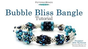 How to Bead Jewelry / Videos Sorted by Beads / RounDuo® & RounDuo® Mini Bead Videos / Bubble Bliss Bangle Tutorial