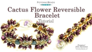How to Bead Jewelry / Videos Sorted by Beads / Potomac Crystal Videos / Cactus Flower Reversible Bracelet Tutorial