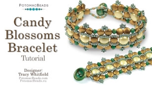 How to Bead Jewelry / Videos Sorted by Beads / Potomac Crystal Videos / Candy Blossoms Bracelet Tutorial
