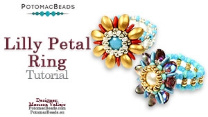 How to Bead / Free Video Tutorials / Ring Projects / Lilly Petal Ring Tutorial