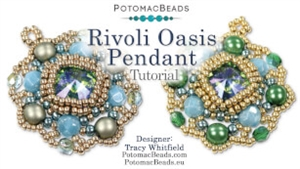 How to Bead / Free Video Tutorials / Pendant Projects / Rivoli Oasis Pendant Tutorial