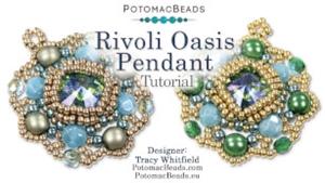 How to Bead Jewelry / Beading Tutorials & Jewel Making Videos / Pendant Projects / Rivoli Oasis Pendant Tutorial