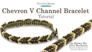 How to Bead / Videos Sorted by Beads / Seed Bead Only Videos / Chevron V Channel Bracelet Tutorial