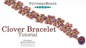 How to Bead Jewelry / Videos Sorted by Beads / Par Puca® Bead Videos / Clover Bracelet Tutorial