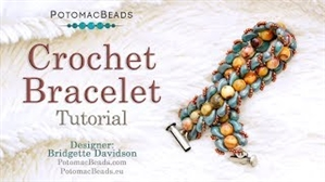 How to Bead Jewelry / Videos Sorted by Beads / ZoliDuo and Paisley Duo Bead Videos / Crochet Bracelet Tutorial