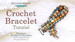 How to Bead Jewelry / Videos Sorted by Beads / Gemstone Videos / Crochet Bracelet Tutorial