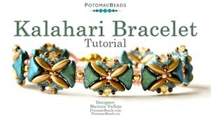 How to Bead Jewelry / Videos Sorted by Beads / Par Puca® Bead Videos / Kalahari Bracelet Tutorial