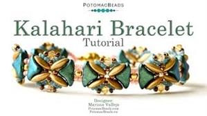 How to Bead / Videos Sorted by Beads / Potomac Crystal Videos / Kalahari Bracelet Tutorial