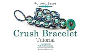 How to Bead Jewelry / Videos Sorted by Beads / Potomax Metal Bead Videos / Crush Bracelet Tutorial