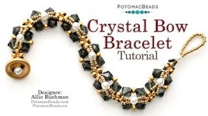 How to Bead / Videos Sorted by Beads / All Other Bead Videos / Crystal Bow Bracelet Tutorial