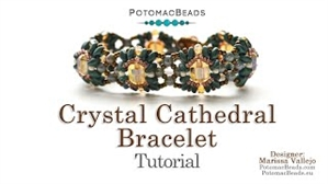 How to Bead Jewelry / Videos Sorted by Beads / RounDuo® & RounDuo® Mini Bead Videos / Crystal Cathedral Bracelet