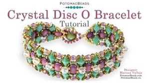 How to Bead Jewelry / Videos Sorted by Beads / Diamond Shaped Bead Videos / Crystal Disc O Bracelet Tutorial