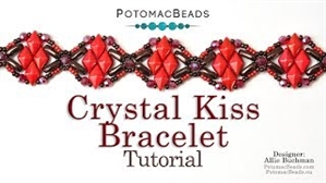 How to Bead / Videos Sorted by Beads / Diamond Shaped Bead Videos / Crystal Kiss Bracelet Tutorial