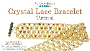 How to Bead / Videos Sorted by Beads / Gemstone Videos / Crystal Lace Bracelet Tutorial