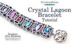 How to Bead / Videos Sorted by Beads / CzechMates Bead Videos / Crystal Lagoon Bracelet Tutorial