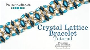 How to Bead Jewelry / Videos Sorted by Beads / MobyDuo Bead Videos / Crystal Lattice Bracelet Tutorial