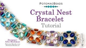 How to Bead / Videos Sorted by Beads / Potomax Metal Bead Videos / Crystal Nest Bracelet Tutorial