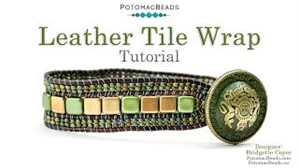 How to Bead Jewelry / Beading Tutorials & Jewel Making Videos / Bracelet Projects / Tile Leather Wrap Tutorial