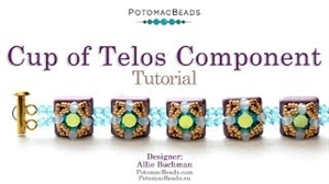 How to Bead Jewelry / Videos Sorted by Beads / Par Puca® Bead Videos / Cup of Telos Component Tutorial