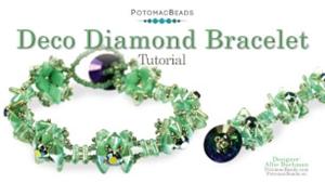 How to Bead Jewelry / Videos Sorted by Beads / Diamond Shaped Bead Videos / Deco Diamond Bracelet Tutorial