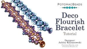How to Bead Jewelry / Videos Sorted by Beads / Par Puca® Bead Videos / Deco Flourish Bracelet Tutorial