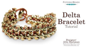 How to Bead Jewelry / Videos Sorted by Beads / SuperDuo & MiniDuo Videos / Delta Bracelet Tutorial