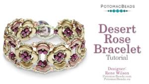 How to Bead Jewelry / Videos Sorted by Beads / Par Puca® Bead Videos / Desert Rose Bracelet Tutorial