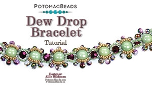How to Bead / Videos Sorted by Beads / RounTrio® & RounTrio® Faceted Bead Videos / Dew Drop Bracelet Tutorial