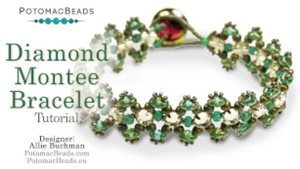 How to Bead / Videos Sorted by Beads / SuperDuo & MiniDuo Videos / Diamond Montee Bracelet Tutorial