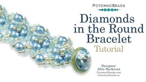 How to Bead / Videos Sorted by Beads / RounDuo® & RounDuo® Mini Bead Videos / Diamonds in the Round Bracelet Tutorial
