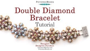 How to Bead / Videos Sorted by Beads / Diamond Shaped Bead Videos / Double Diamond Bracelet Tutorial