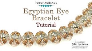 How to Bead / Videos Sorted by Beads / CzechMates Bead Videos / Egyptian Eye Bracelet Tutorial