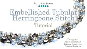 How to Bead / Videos Sorted by Beads / All Other Bead Videos / Embellished Tubular Herringbone Stitch Tutorial