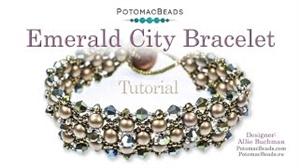 How to Bead / Videos Sorted by Beads / RounDuo® & RounDuo® Mini Bead Videos / Emerald City Bracelet Tutorial