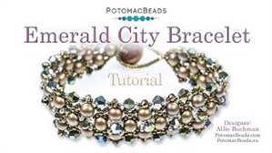 How to Bead / Videos Sorted by Beads / Potomac Crystal Videos / Emerald City Bracelet Tutorial