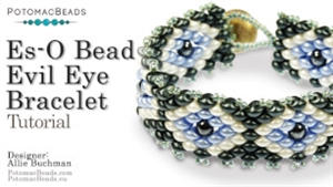 How to Bead / Videos Sorted by Beads / All Other Bead Videos / Es-O Bead Evil Eye Bracelet Tutorial