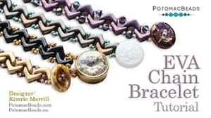 How to Bead Jewelry / Videos Sorted by Beads / All Other Bead Videos / EVA Chain  Bracelet Tutorial