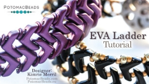 How to Bead / Videos Sorted by Beads / Cabochon Videos / Eva Ladder Tutorial