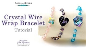 How to Bead Jewelry / Beading Tutorials & Jewel Making Videos / Wire Working Projects / Crystal Wire Wrap Bracelet Tutorial