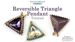 How to Bead Jewelry / Beading Tutorials & Jewel Making Videos / Pendant Projects / Reversible Triangle Pendant Tutorial