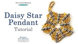 How to Bead Jewelry / Beading Tutorials & Jewel Making Videos / Pendant Projects / Daisy Star Pendant Tutorial
