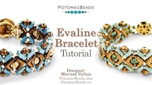 How to Bead Jewelry / Videos Sorted by Beads / StormDuo Bead Videos / Evaline Bracelet  Tutorial