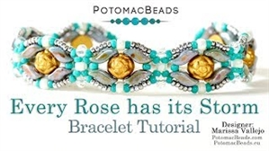 How to Bead Jewelry / Videos Sorted by Beads / StormDuo Bead Videos / Every Rose has its Storm Bracelet Tutorial