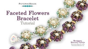 How to Bead Jewelry / Videos Sorted by Beads / Potomac Crystal Videos / Faceted Flowers Bracelet Tutorial