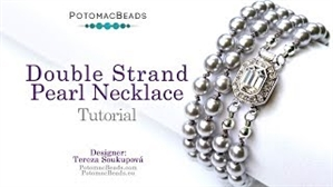 How to Bead / Free Video Tutorials / Stringing & Knotting Projects / Double Strand Pearl Necklace Tutorial